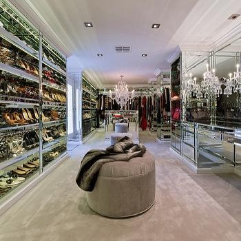 Mirrored Closet, Contemporary, closet