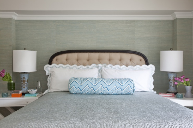 Grasscloth Wallpaper. Grasscloth Wallpaper   Transitional   bedroom   Benjamin Moore