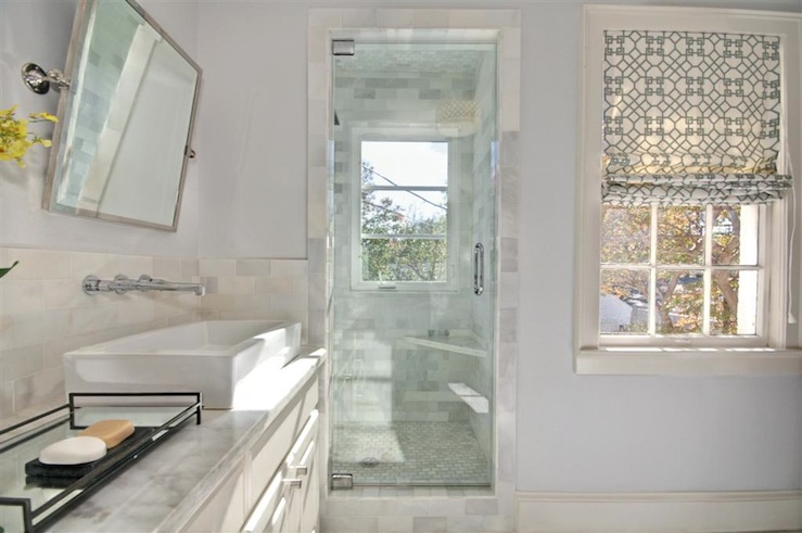 Vanity With Vessel Sink Transitional Bathroom The Semi Designed Life