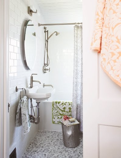 Image Result For Guest Bathroom With White Vanity And Aqua Bath Mat