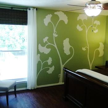 Hand Painted Floral Wall Mural Design Ideas