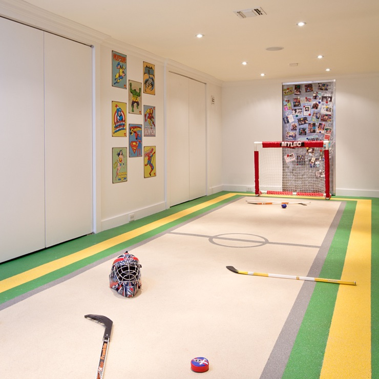 Basement Hockey Rink Contemporary Basement Melanie