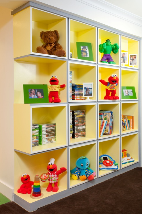 Kids Cubbies Contemporary Basement Melanie Morris Design