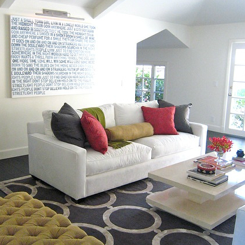 Chain Link Rug, Contemporary, living room, Zoldan Interiors