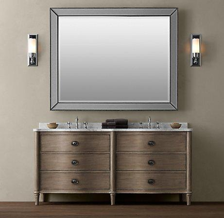 Empire rosette double vanity sink double vanities Double sink washstand