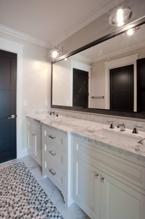 Bathroom Mirror Grey black framed bathroom mirror design ideas