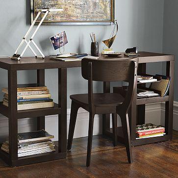 West elm 2 x 2 console desk look 4 less - West elm office desk ...