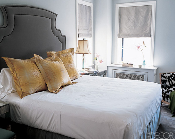 Yellow and gray bedroom design ideas - Grey and gold bedroom ...