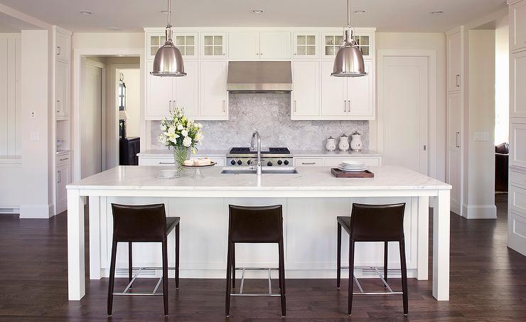 Restoration Hardware Pendants Transitional Kitchen