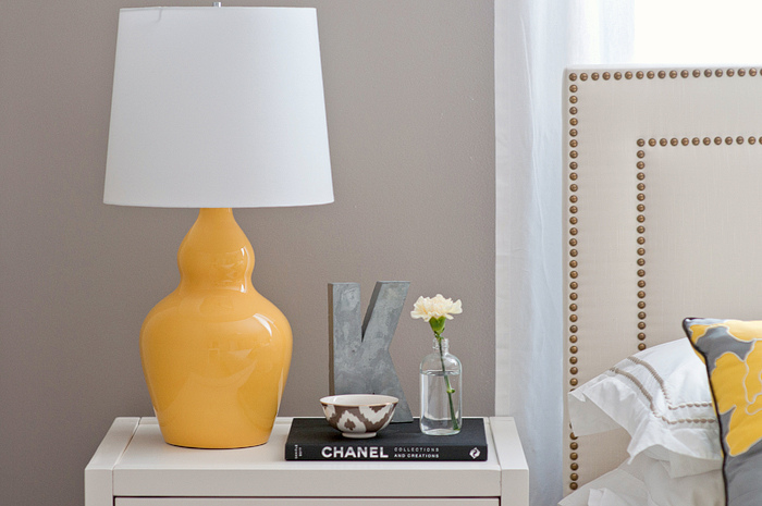 Yellow Lamp Contemporary Bedroom Benjamin Moore