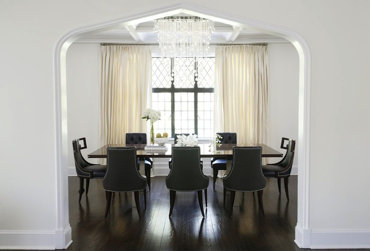 Elegant Transitional Dining Room Fiorella Design Gray Chairs View Full Size