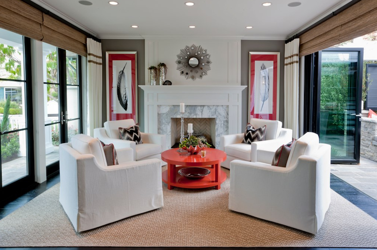 Charming View Full Size. Chic Open Living Room ...