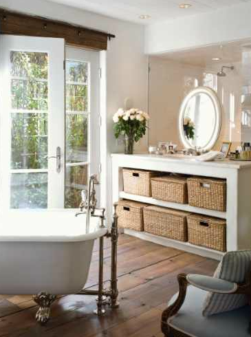 Cottage bathroom ideas cottage bathroom for Bathroom ideas with wood floors