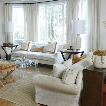 Lucite Coffee Table, Transitional, living room, Kwinter Design