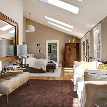 Skylights in Bedroom, Transitional, bedroom, Benjamin Moore Brandon Beige, Urrutia Design