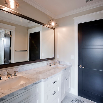 Black framed bathroom mirror design ideas