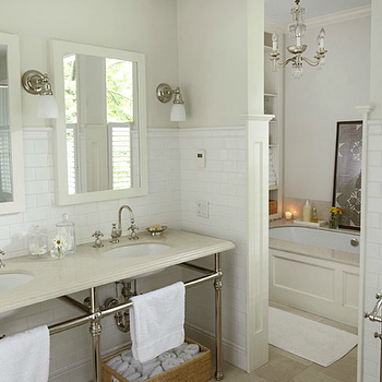 Bathroom with Separate Bathing Room, Transitional, bathroom, Kwinter Design
