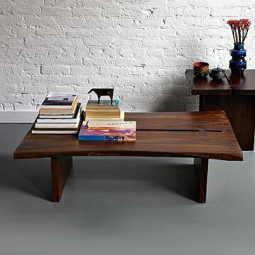 Raw Edge Coffee Table West Elm - West elm plank coffee table