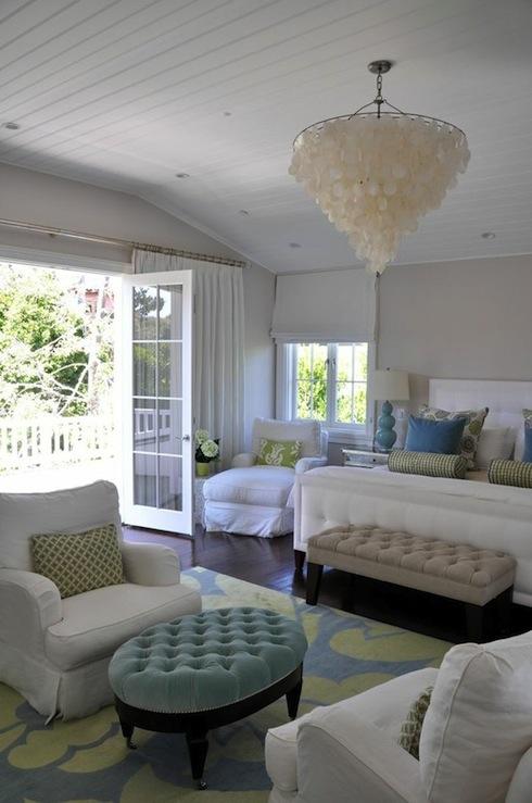 White capiz chandelier transitional bedroom giannetti home white capiz chandelier aloadofball Images