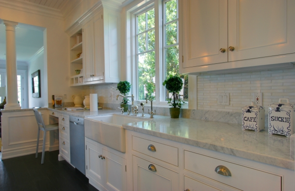 White Carrera Marble Counter Design Decor Photos