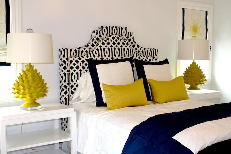 Blue and yellow bedroom contemporary bedroom porter Decorating with yellow and blue