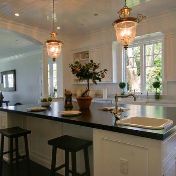 Beadboard Ceiling in Kitchen, Transitional, kitchen