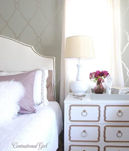 Benjamin Moore Starts A Trend With Stenciled Kitchen: DIY Dorothy Draper Chest