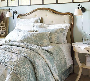 upholstered headboard  pottery barn, Headboard designs