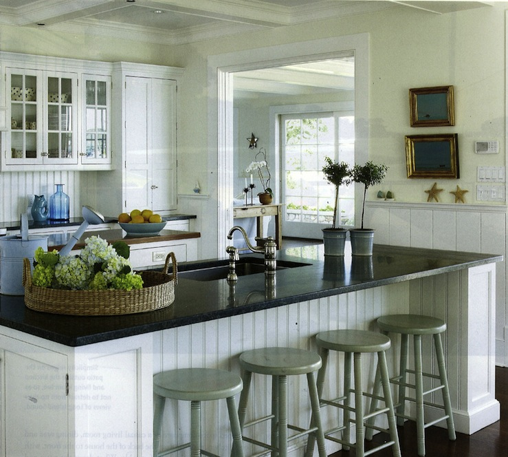 White Beadboard Kitchen Cabinets View Full Size