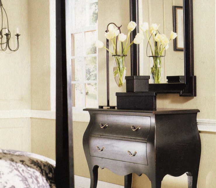 Black Bombay Chest - Transitional - bedroom