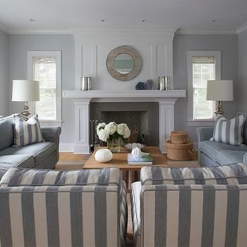 blue and gray living room - Slate Blue Living Room Ideas
