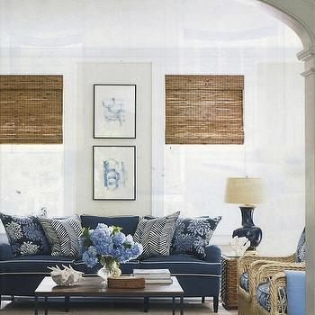 navy blue living room ideas. Blue Sofa and Beige Living Room  Cottage living room Lucy Company