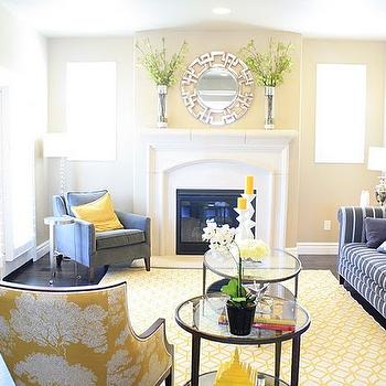 Greek Key Mirror, Transitional, living room, 6th Street Design School