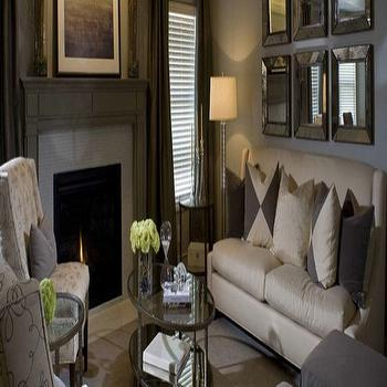 Taupe Living Room, Transitional, living room