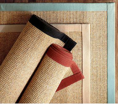 Color bound sisal rug pottery barn for Pottery barn carpet runners