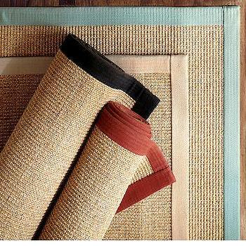 Color-Bound Sisal Rug, Pottery Barn