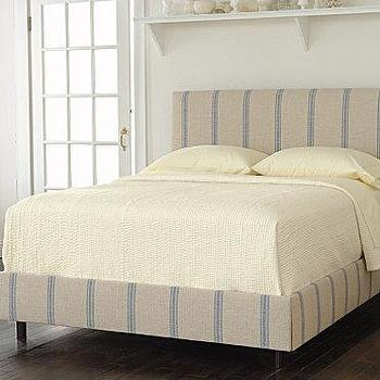 French Stripe Bed and Headboard, Garnet Hill