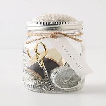 Mason Jar Sewing Kit, Anthropologie.com
