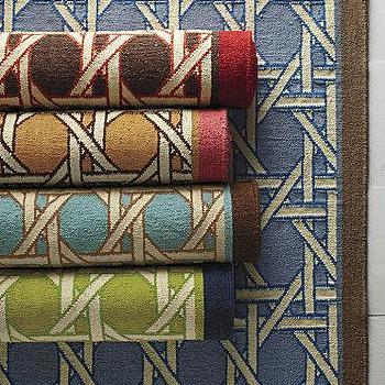 Garnet Hill Canecroft Flat-Weave Wool Rug, Garnet Hill