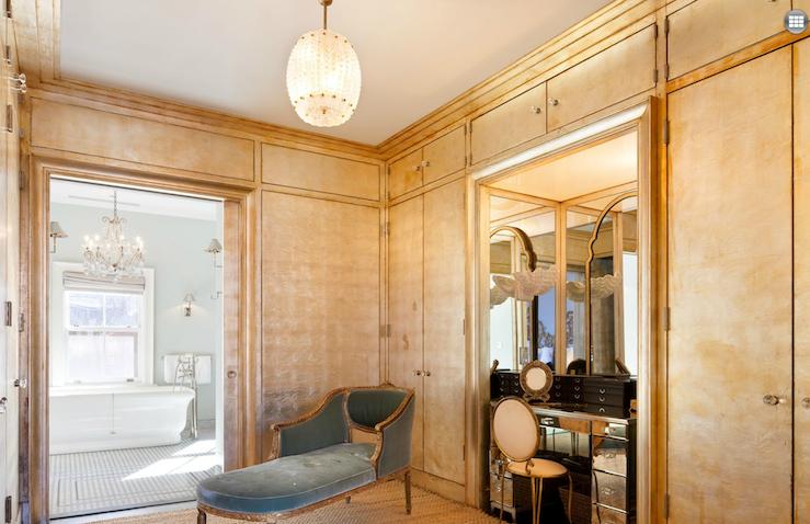 Mirrored Vanity French Closet Nate Berkus Design