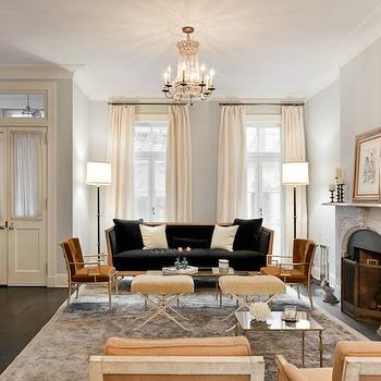 Blue Grey Paint Colors, French, living room, Benjamin Moore Pale Smoke, Nate Berkus Design