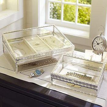 Antique-Silver Jewelry Boxes, Pottery Barn