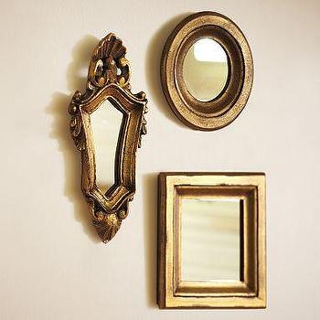 Set Of 3 Round Wood Mirrors Ballard Designs