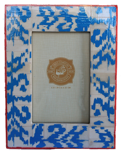 Ikat Frame, Bright Blue