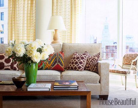 Contemporary cream living room for House beautiful living room designs