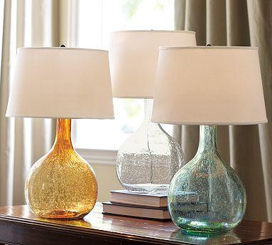Colored Glass Table Lamp - Pottery Barn