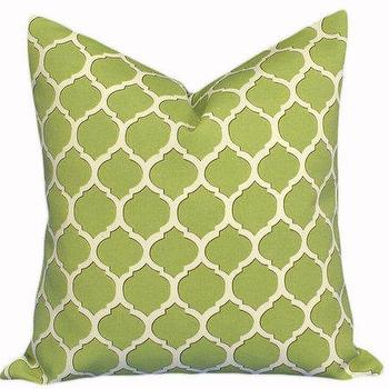 Lime Green Geometric Patio Pillows on SUMMER by PillowThrowDecor