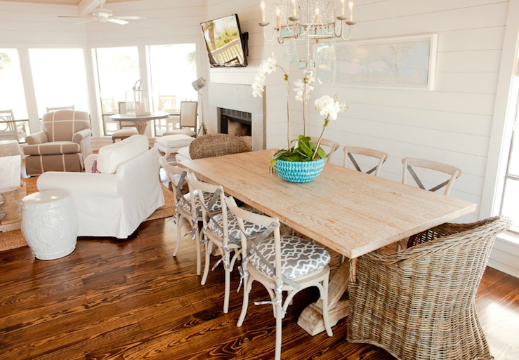 Elegant View Full Size. Chic Beachy Dining Room ...