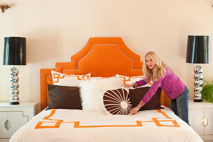 orange headboard design decor photos pictures ideas