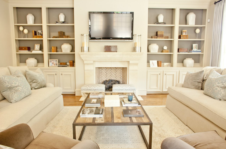 Built In Cabinets Transitional Living Room Munger Interiors
